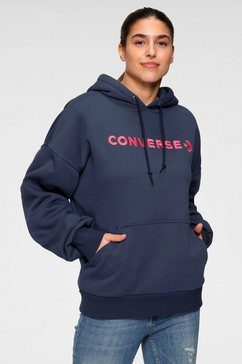 converse hoodie »embroidered oversized hoodie« blauw