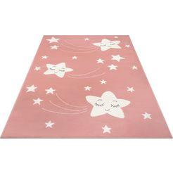 hanse home vloerkleed voor de kinderkamer »stardust« roze