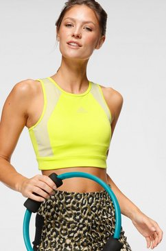 adidas sport-bh designed to move bra top geel