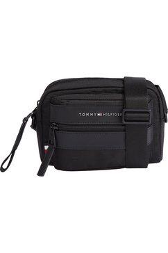 tommy hilfiger mini-bag elevated nylon camera bag met ritsvoorvak zwart