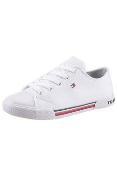tommy hilfiger sneakers met logo-garnering wit