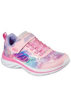 skechers kids sneakers quick kicks flying beauty met changerend beleg roze