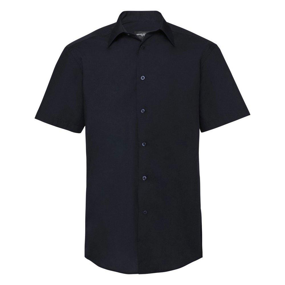 Russell overhemd met korte mouwen Collection Easy Care Tailored Poplin overhemd voor mannen, korte mouwen bij OTTO online kopen