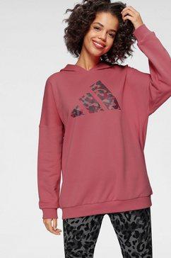adidas performance hoodie »w aop os hd« roze