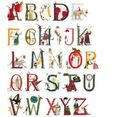 wall-art wandfolie kinderkamer bloemen alfabet (1 stuk) multicolor