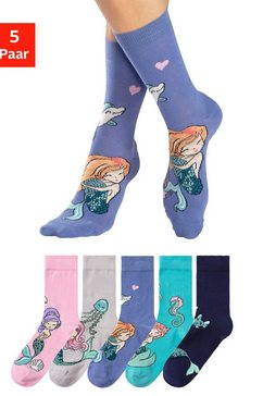 h.i.s sokken met ingebreide motieven (5 paar) multicolor
