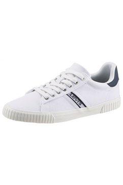 levi's sneakers skinner met contrastbeleg wit