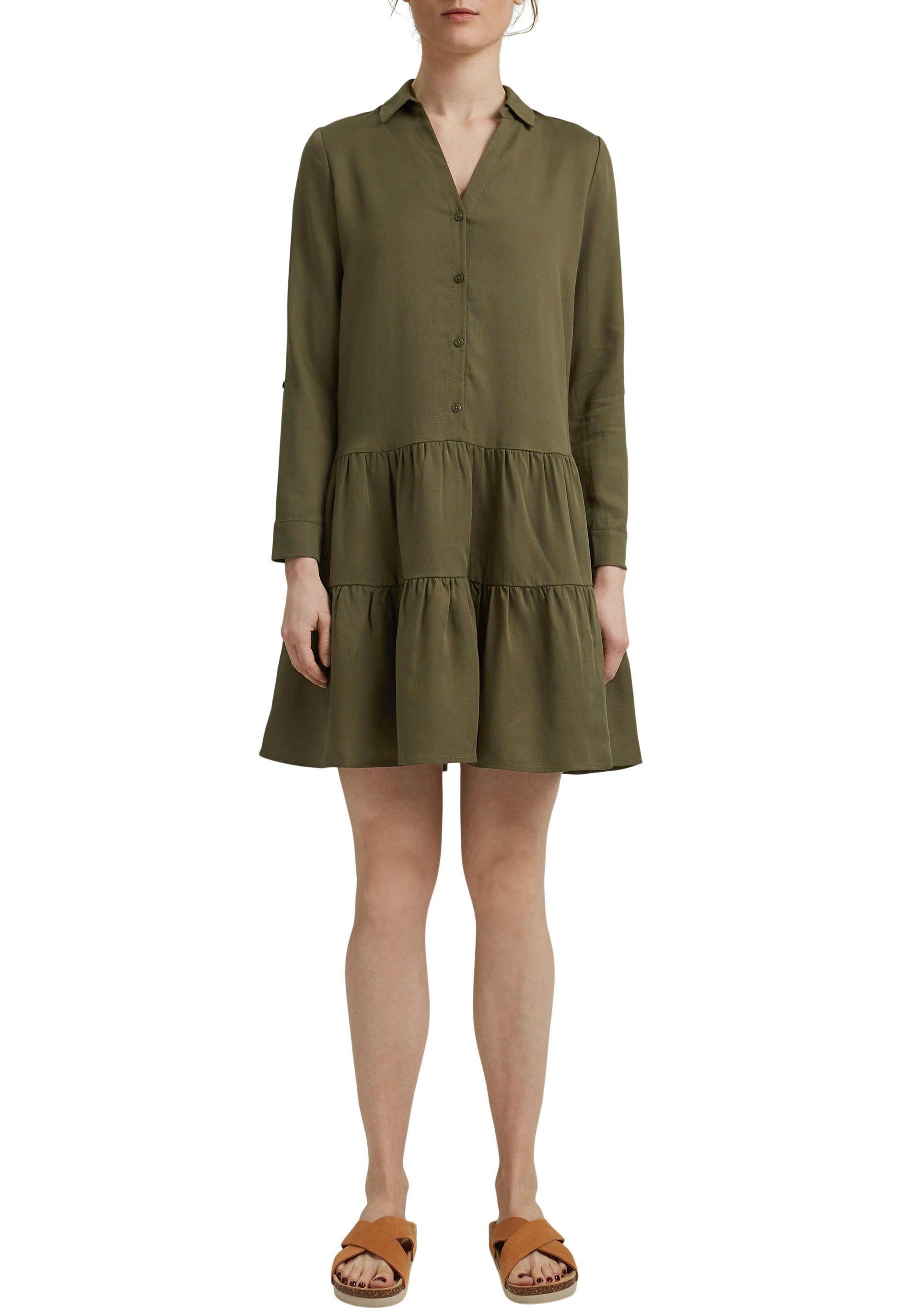 Esprit Volantjurk in overhemdstijl en in stijlvol a-model nu online bestellen