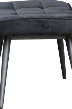 homexperts hocker ulla kruk met doorgestikt (1 stuk) zwart