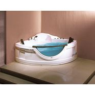 sanotechnik »acryl« whirlpool-badkuip wit