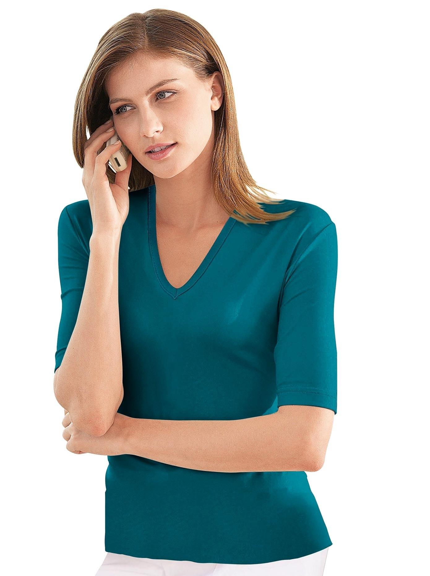 Casual Looks shirt met korte mouwen en V-hals voordelig en veilig online kopen