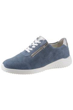 solidus veterschoenen in schoenwijdte h (zeer wijd) blauw