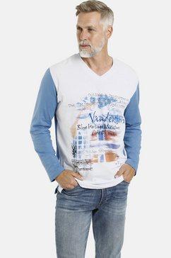 jan vanderstorm shirt met lange mouwen akim prettige pasvorm, comfort fit wit