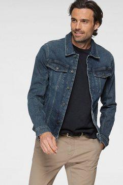 tom tailor jeansjack met borstzakken, en steekzakken aan de voorzijde blauw