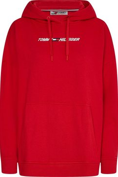 tommy sport hoodie rood
