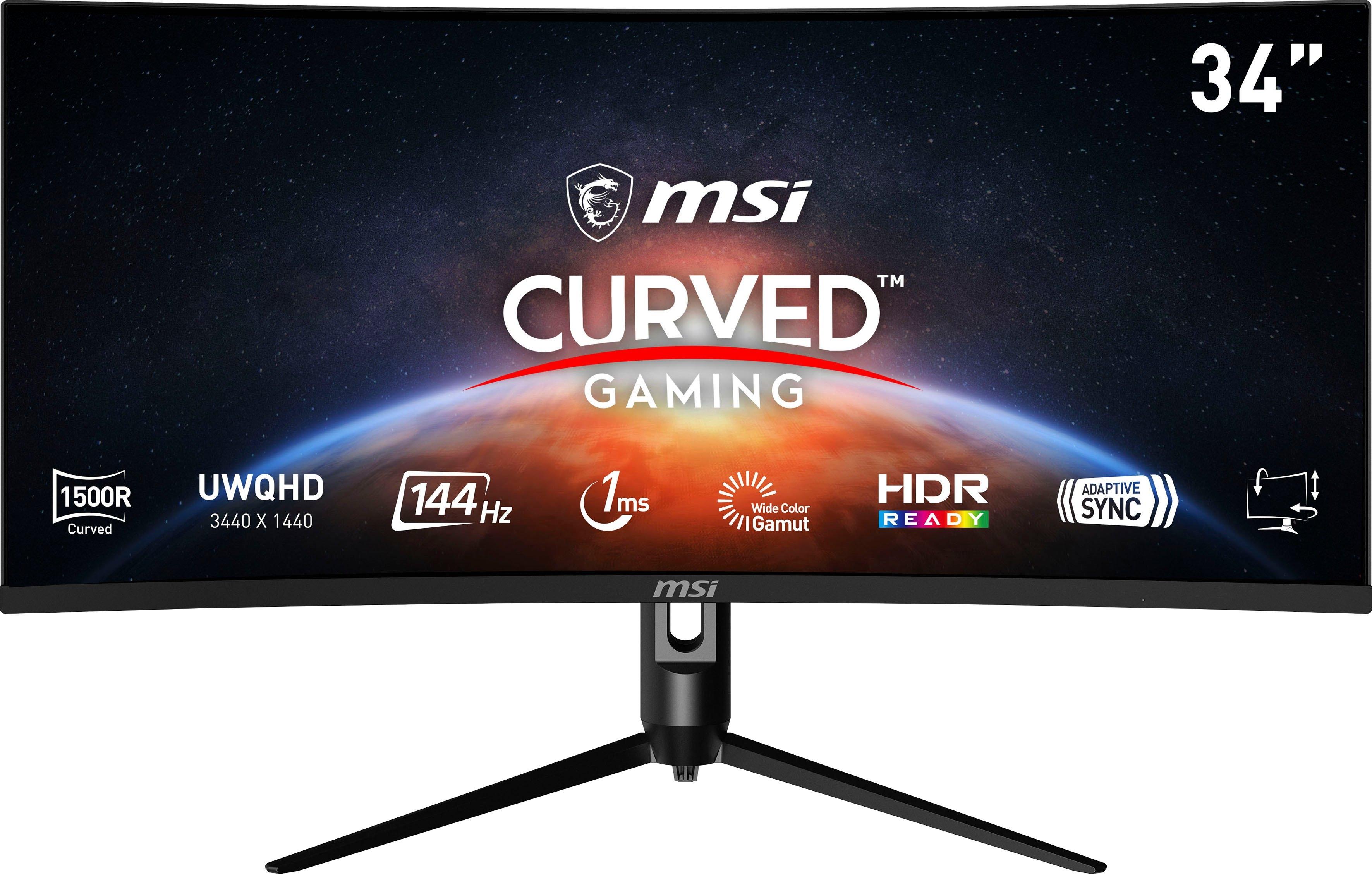MSI Curved-gaming-monitor Optix MAG342CQR, 86 cm / 34