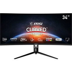 """msi curved-gaming-monitor optix mag342cqr, 86 cm - 34 """", uwqhd, in hoogte verstelbaar zwart"""