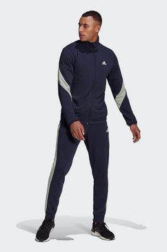 adidas performance trainingspak adidas sportswear cotton blauw