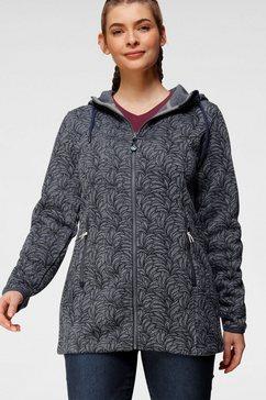 polarino tricot-fleecejack blauw
