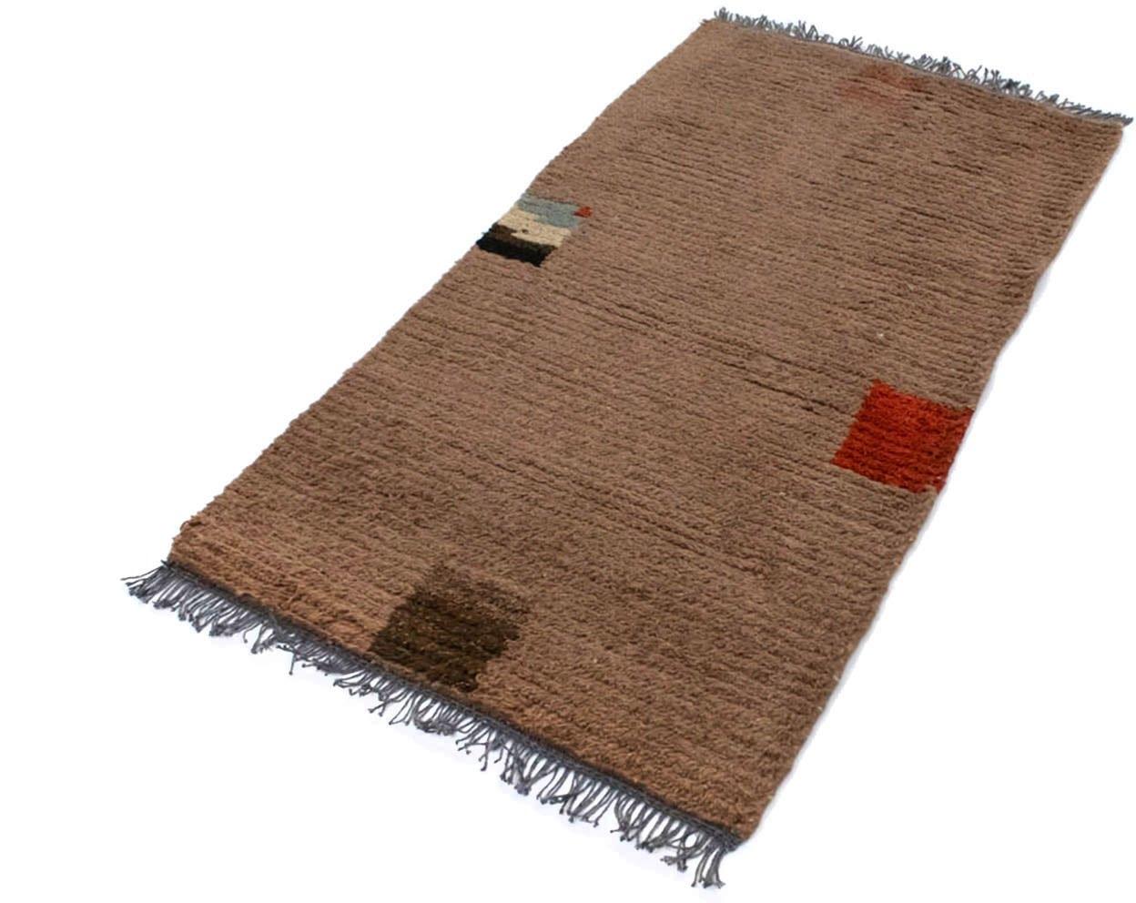 morgenland wollen kleed Nepal Teppich handgeknüpft braun handgeknoopt online kopen op otto.nl
