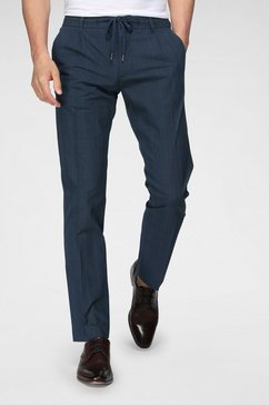 tommy hilfiger pantalon tailored met structuurpatroon blauw