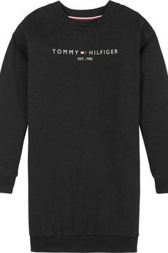 tommy hilfiger sweatjurk »essential« zwart