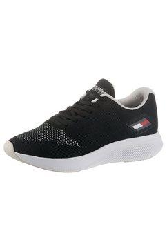 tommy sport sneakers met sleehak ts sport 3 women met merklabel opzij zwart