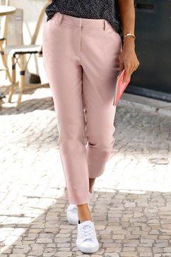 lascana chino in verkorte lengte roze