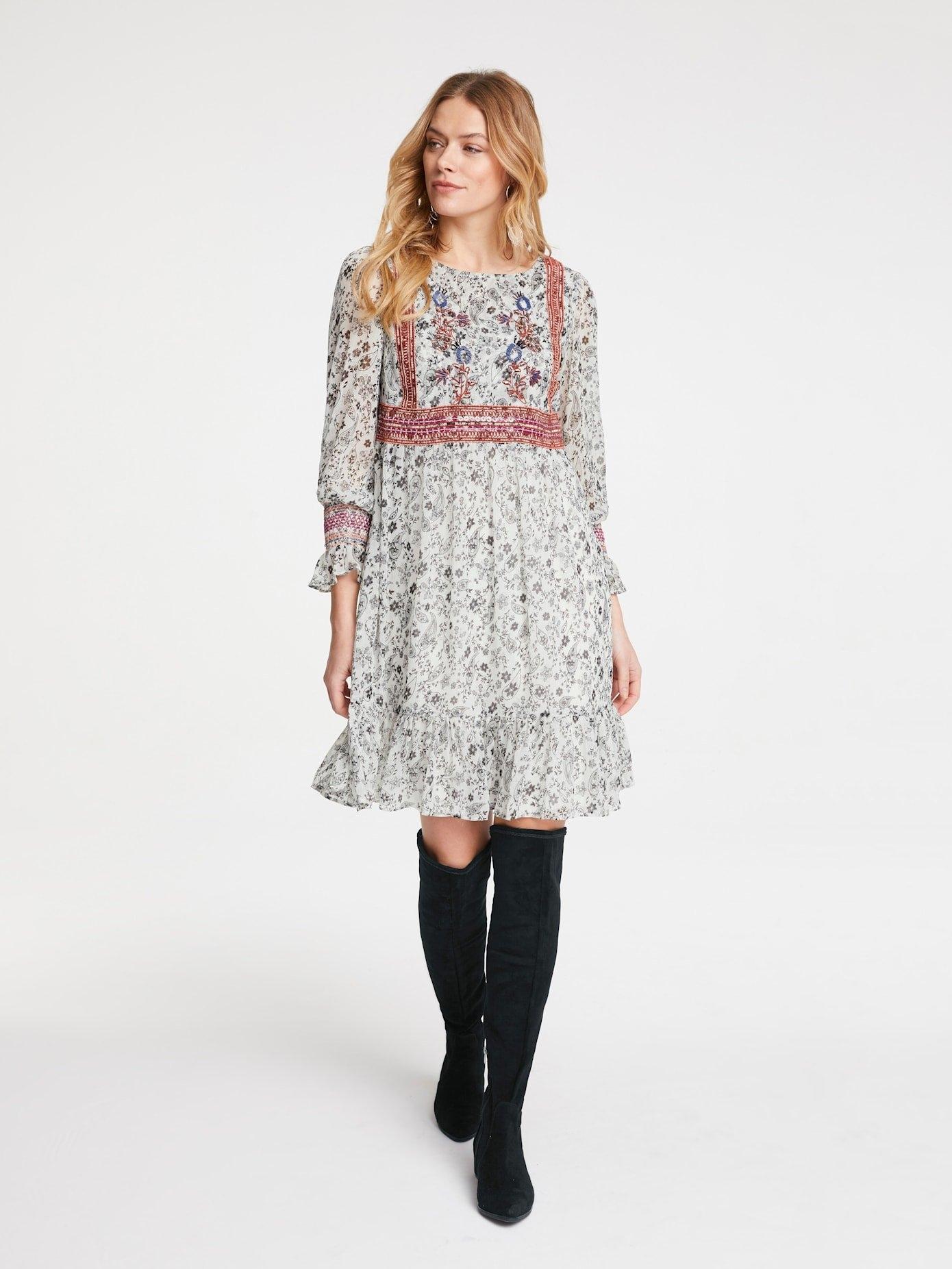 LINEA TESINI by Heine gedessineerde jurk veilig op otto.nl kopen