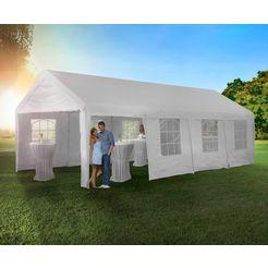 konifera »party-tent«, 4x8 m, wit wit