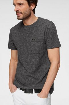 lee t-shirt »ultimate pocket tee« grijs