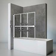 schulte complete set: opvouwbare badwand »komfort«, 3-delig, om te lijmen of te boren