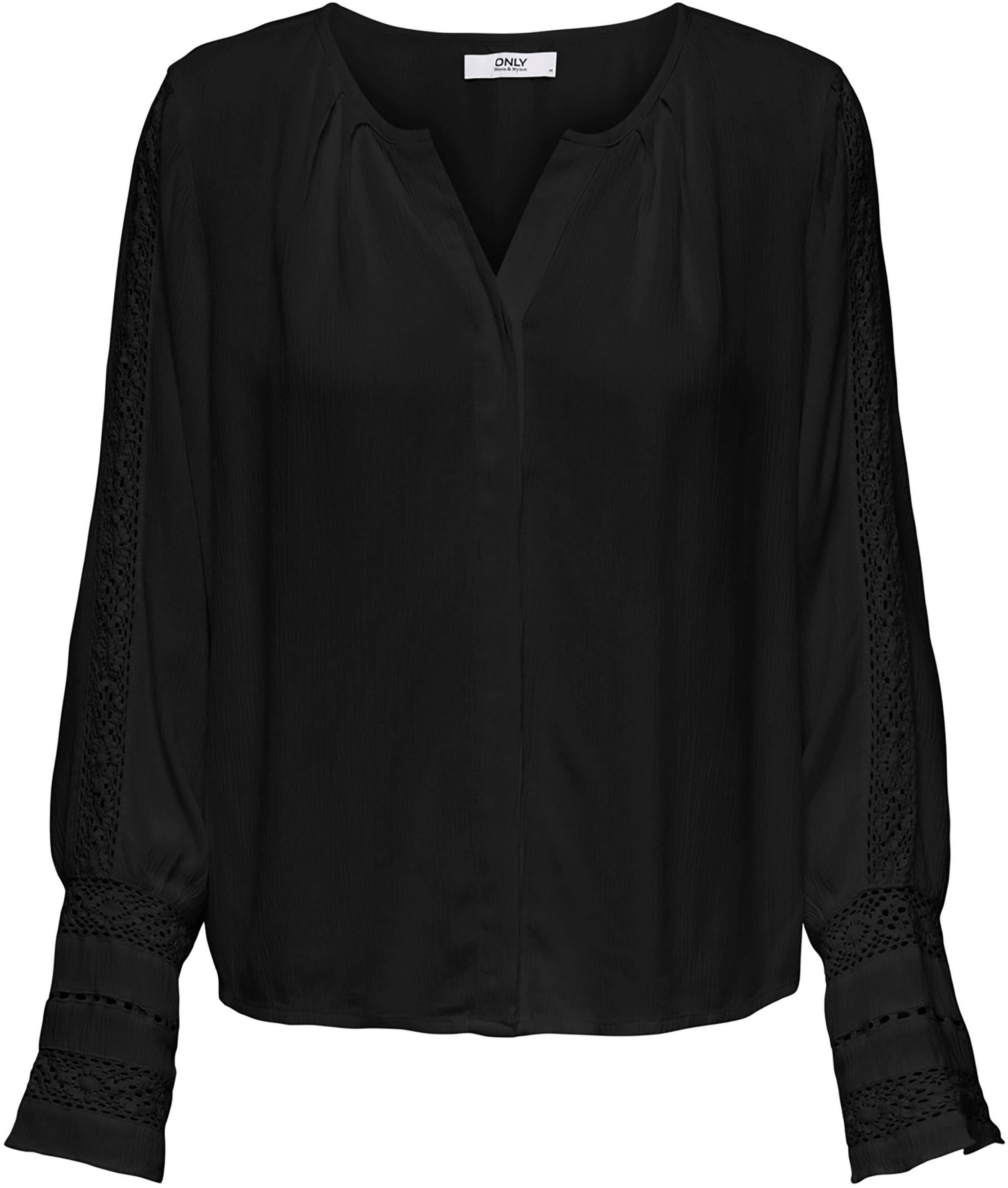 Only kanten blouse ONLALMA met gehaakte inzet op de mouw veilig op otto.nl kopen