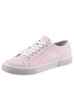calvin klein sneakers met all-over logoprint roze