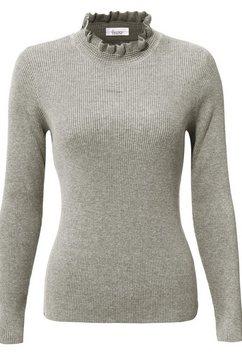 linea tesini by heine trui met staande kraag grijs