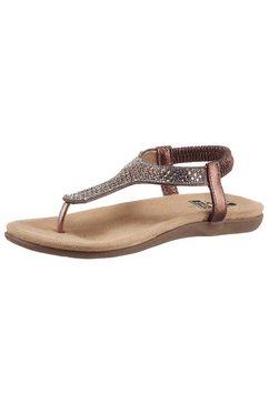 2go fashion sandalen met teenbandje bruin