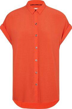 calvin klein blouse met korte mouwen »ss turn up shirt« oranje