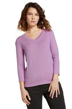 tom tailor shirt met 3-4-mouwen met v-hals paars