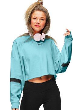 reebok sweatshirt »sr french terry crew« blauw