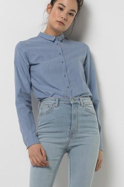 jack wolfskin blouse met lange mouwen nepa river shirt w blauw