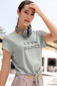 bench. shirt met korte mouwen met frontprint groen