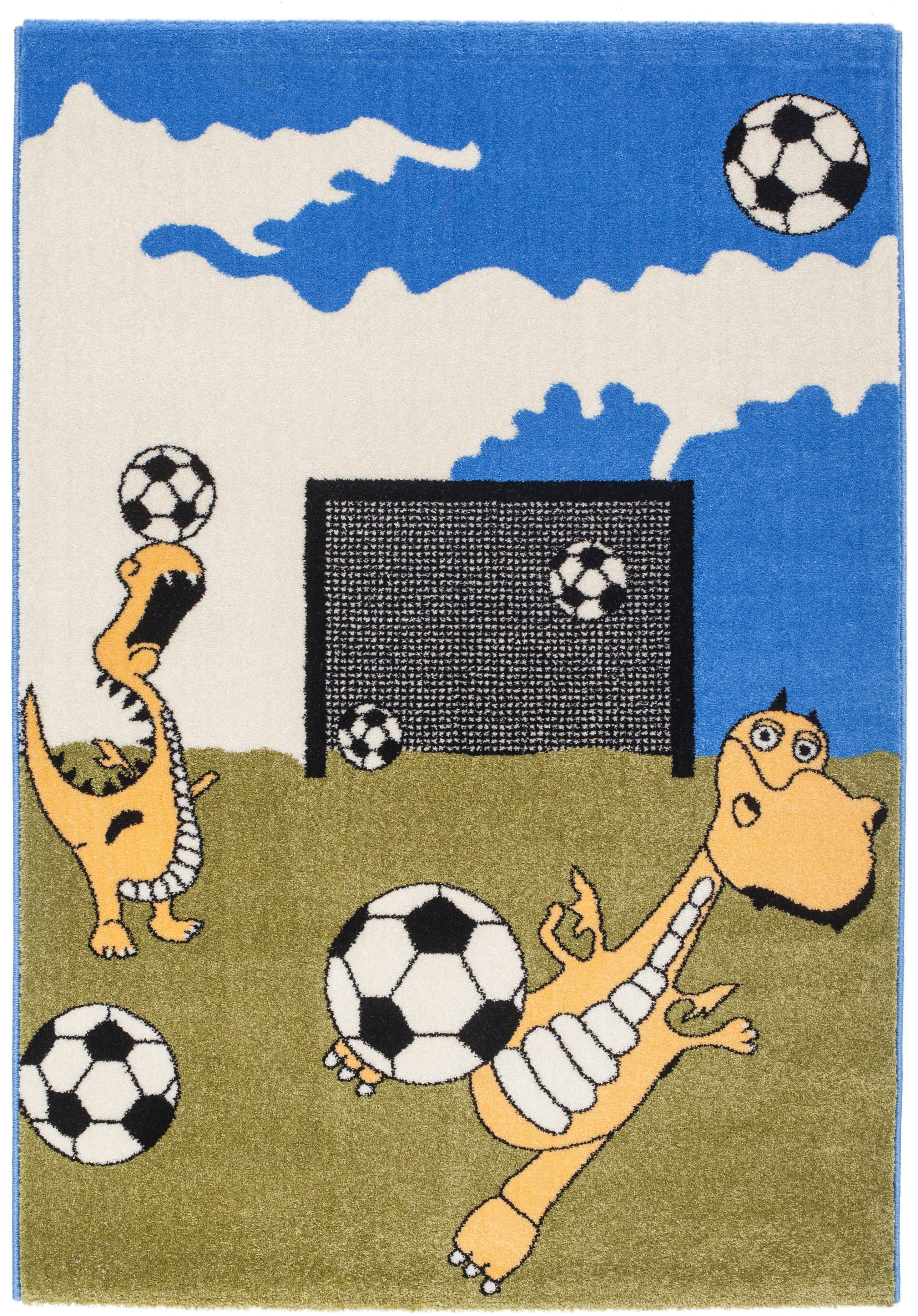 RESITAL The Voice of Carpet vloerkleed voor de kinderkamer Bambino 905 Korte pool, geweven, voetbal motief, kinderkamer goedkoop op otto.nl kopen