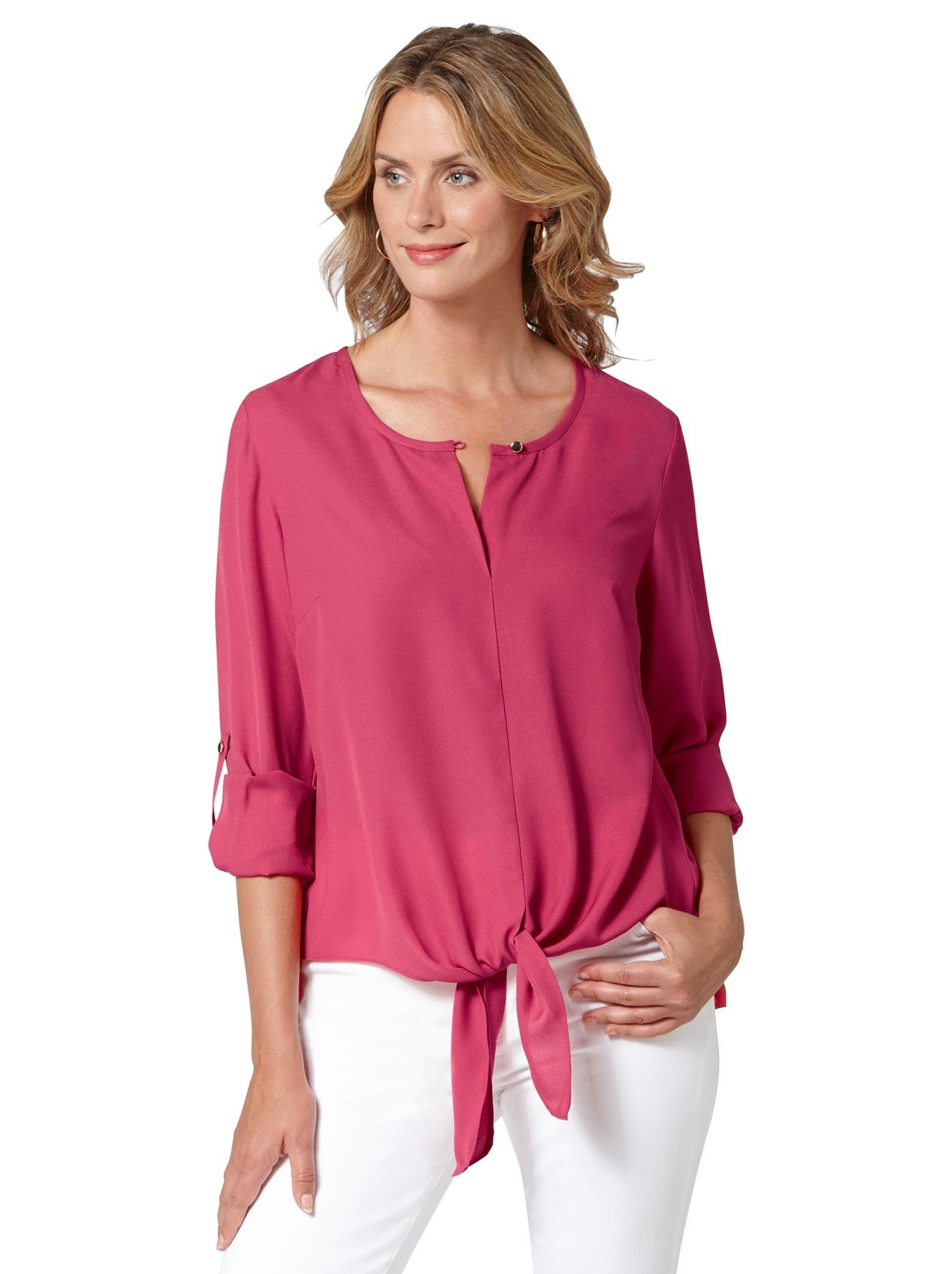 Ambria blouse met gestrikte zoom in de webshop van OTTO kopen