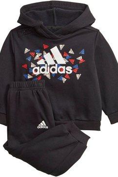 adidas performance joggingpak badge of sports graphic joggger (set, 2-delig) zwart