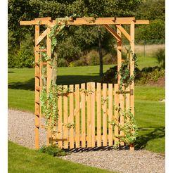 promadino houten prieelboog »pergola anke«, bxdxh: 200x60x210 cm, met deuren