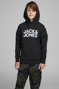 jack  jones junior hoodie jjecorp logo sweat hood zwart