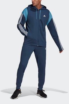 adidas performance trainingspak »adidas sportswear ribbed insert« blauw
