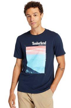 timberland shirt met print blauw