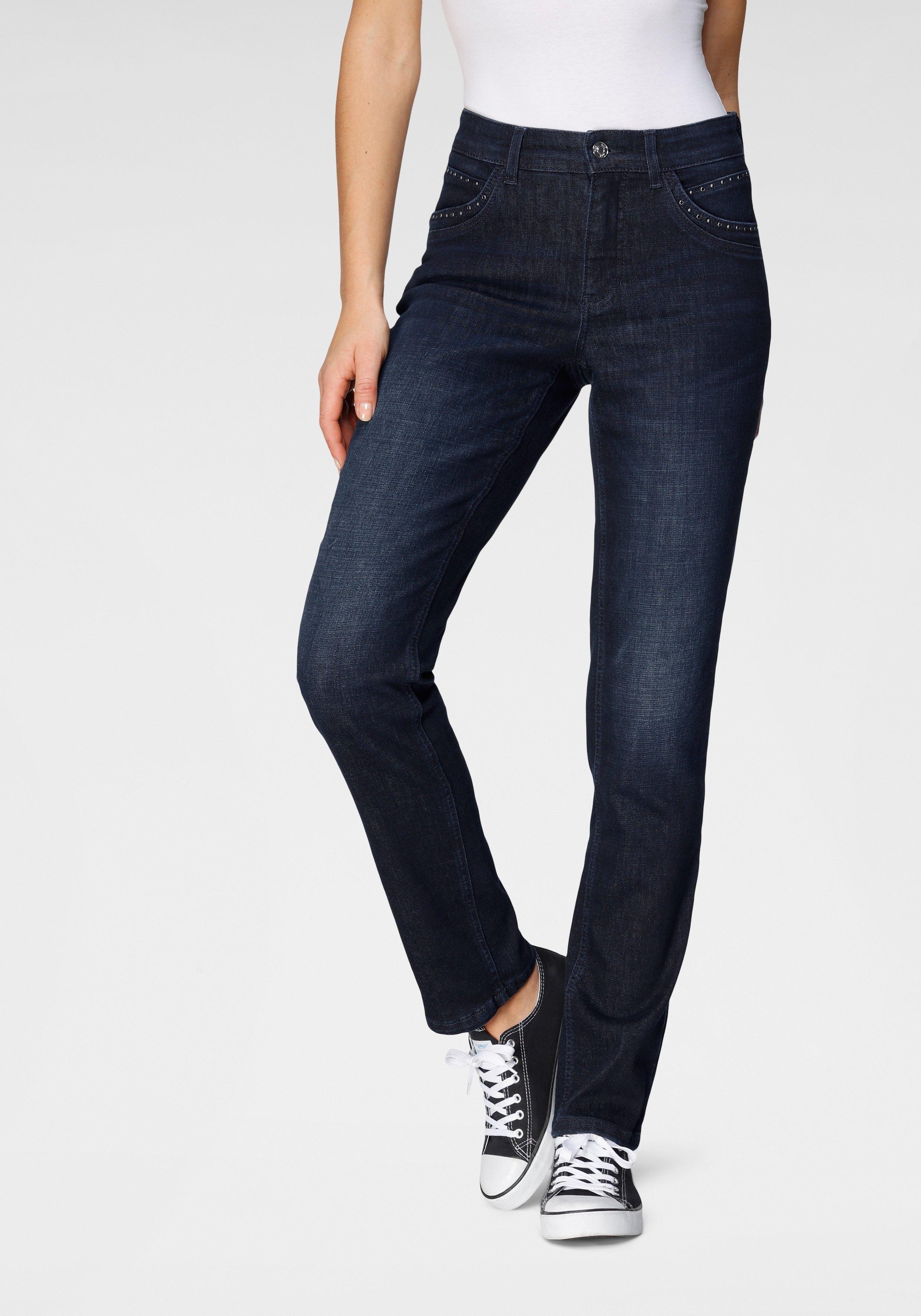 MAC Rechte jeans Melanie Glam Bijzondere beleg van glitterstuds nu online bestellen
