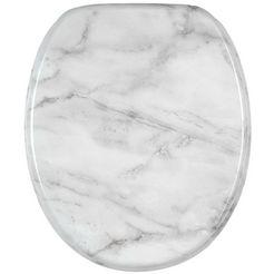 sanilo toiletzitting marmer met soft-closemechanisme grijs